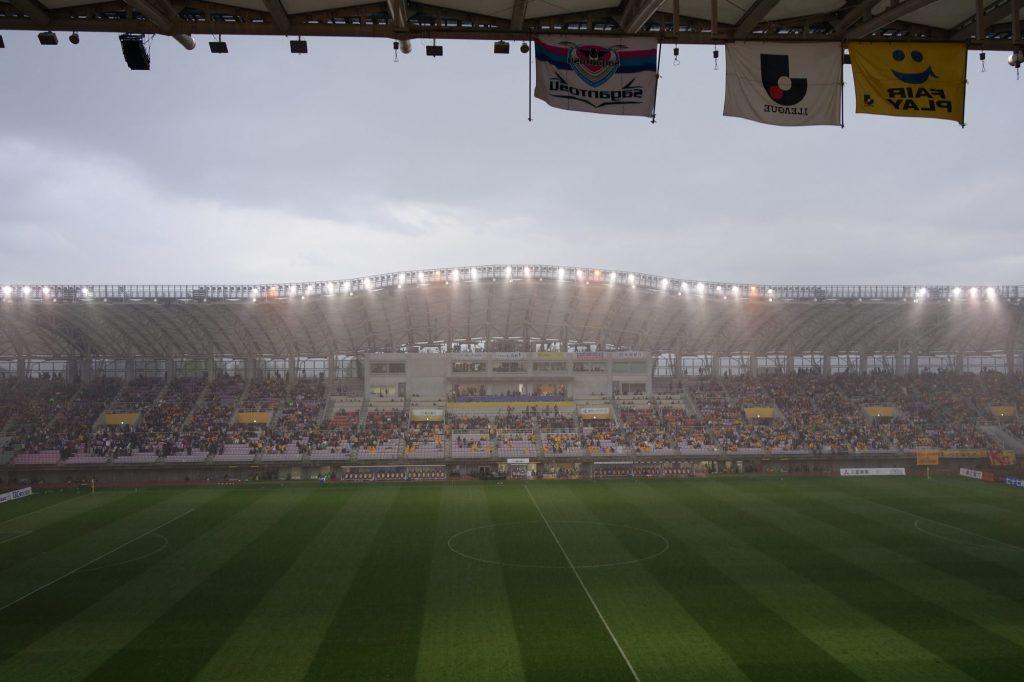 ユアテックスタジアム仙台 雨による中断