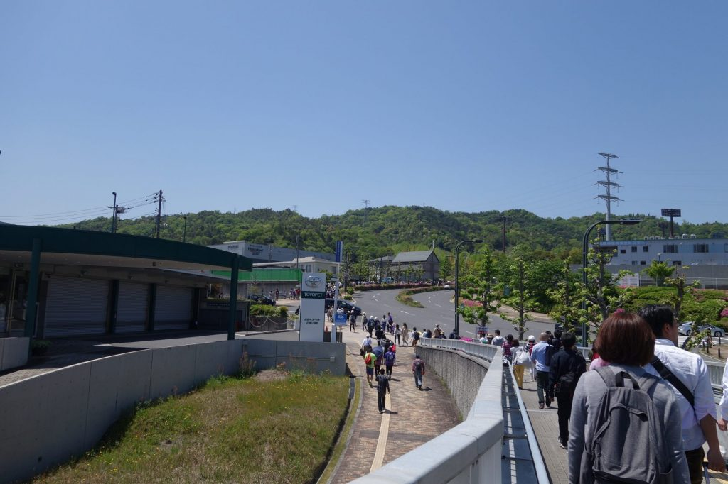 広域公園前駅からエディオンスタジアム広島へ