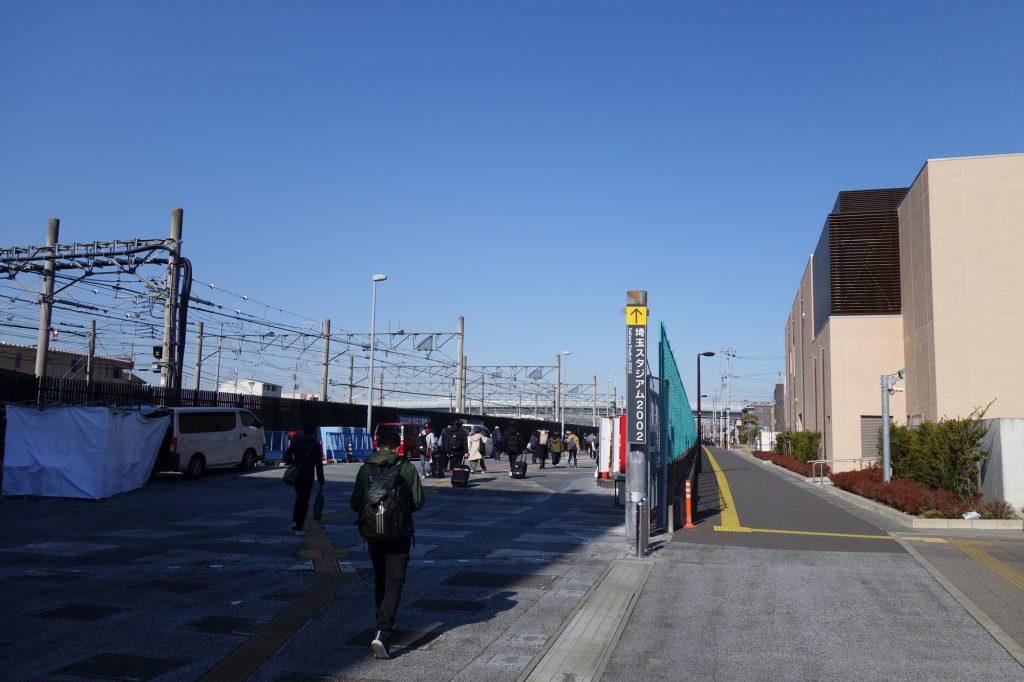 浦和美園駅から埼玉スタジアムへ