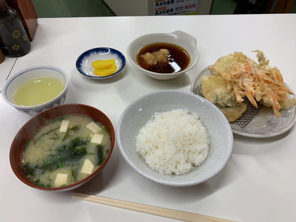 ふじしまの天ぷら定食