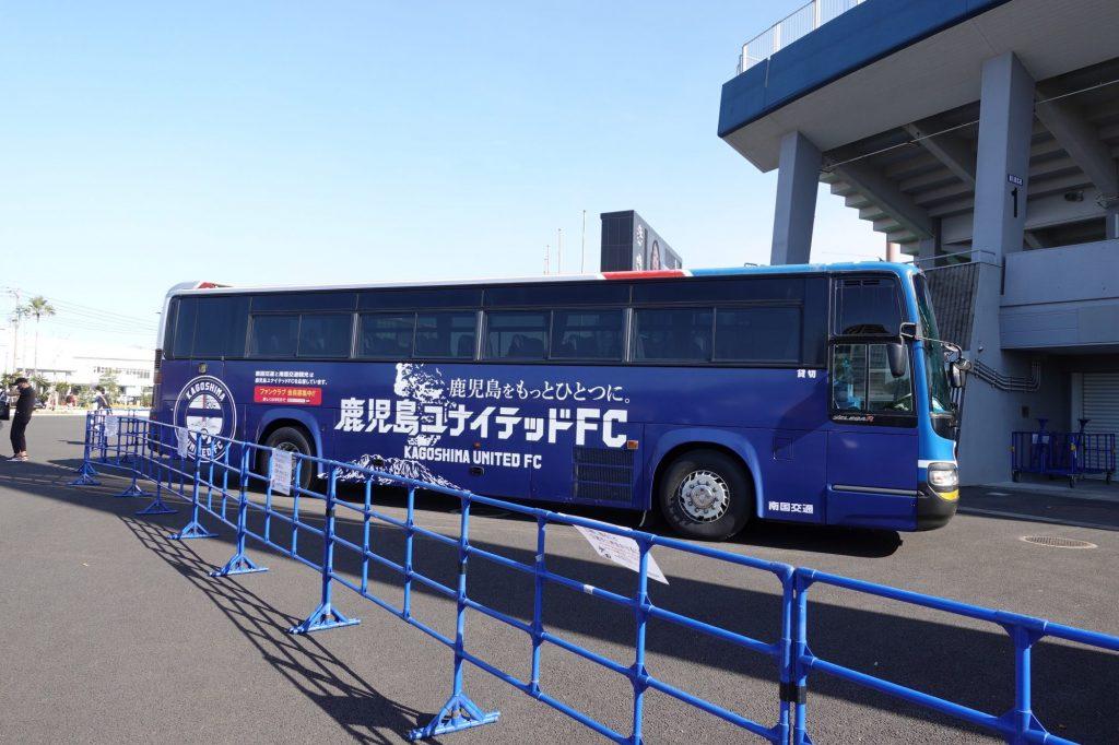 鹿児島ユナイテッドのバス