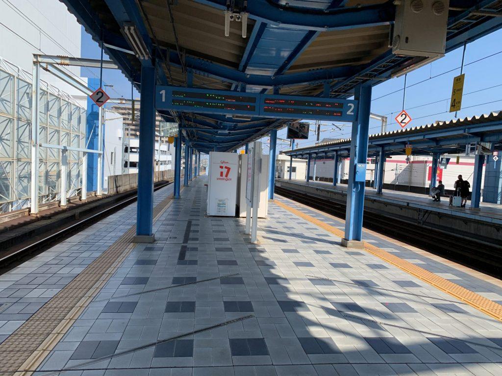 宮崎駅のホーム