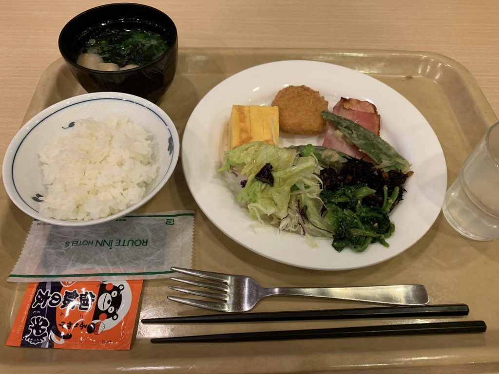ホテルルートイン阿蘇くまもと空港駅前店 朝食バイキング