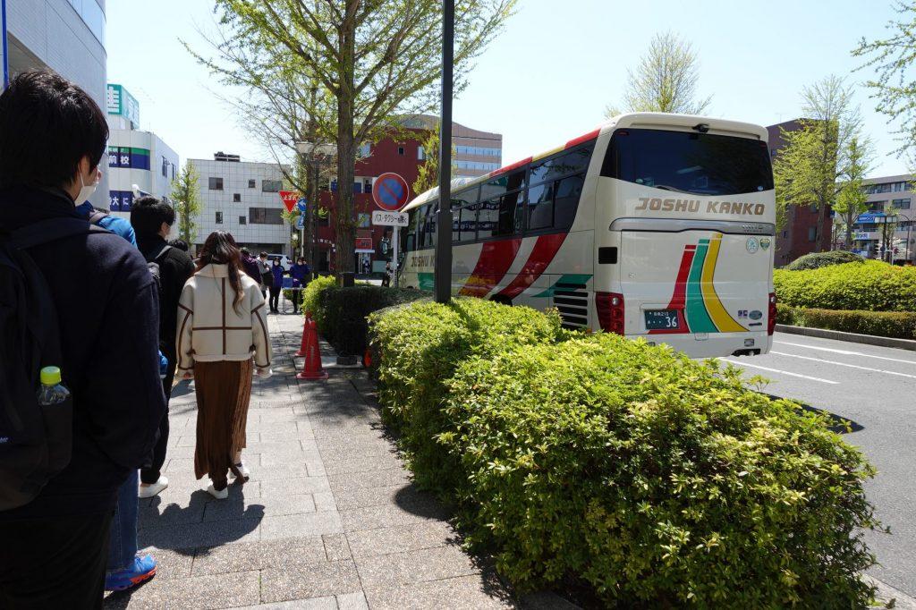 前橋駅南口のシャトルバス
