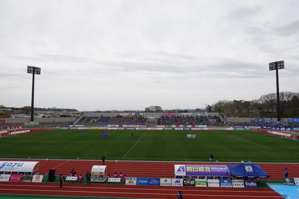ブラウブリッツ秋田vsファジアーノ岡山
