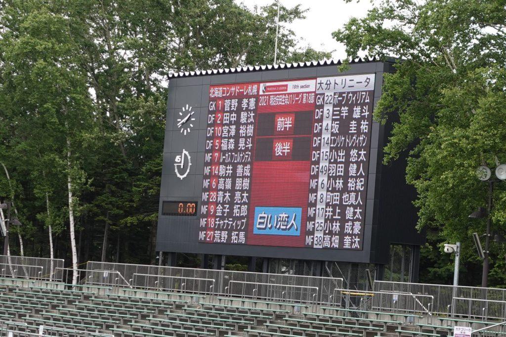 札幌厚別公園競技場 大型ビジョン
