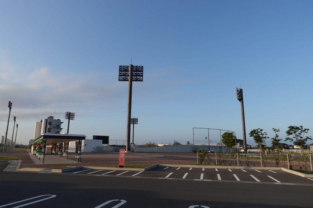 プライフーズスタジアムの駐車場