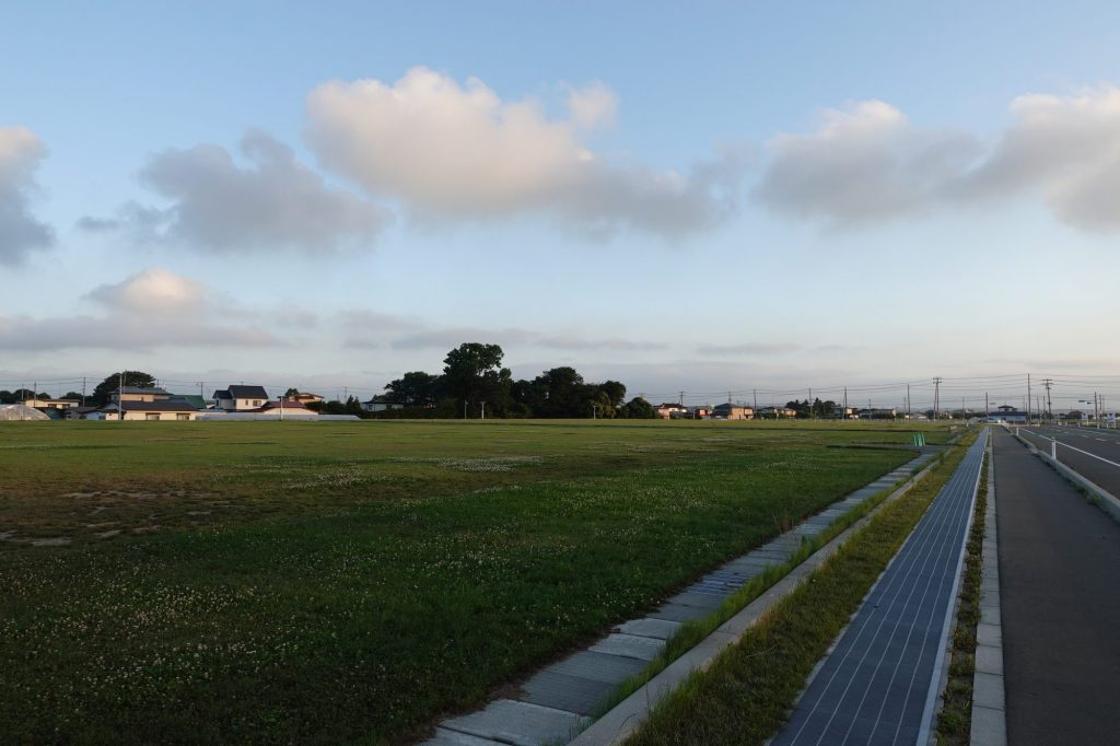 プライフーズスタジアムの臨時駐車場