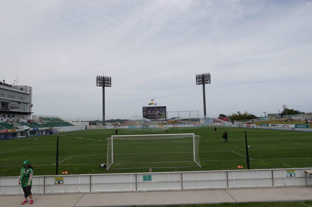 プライフーズスタジアムのホームゴール裏