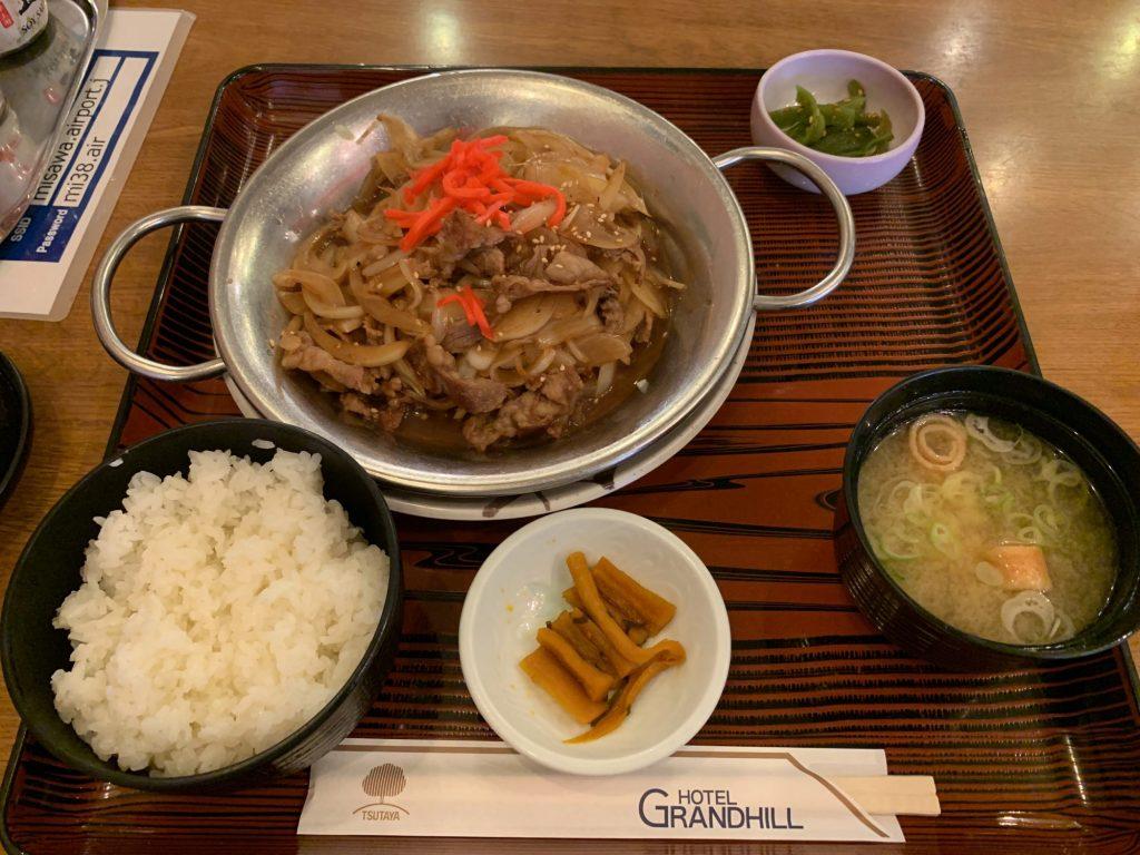 レストラン三沢空港の三沢バラ焼きセット