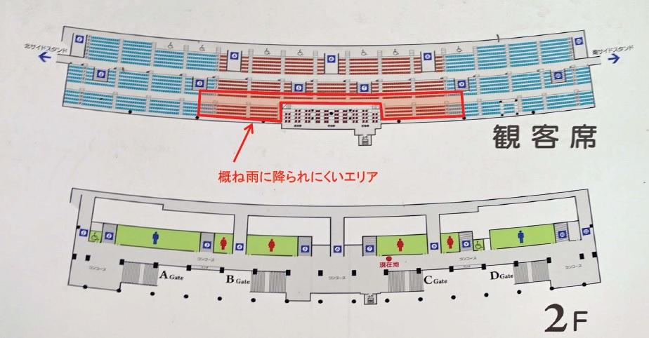 メインスタンド座席図