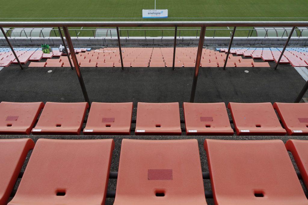 Axisバードスタジアムのメインスタンド座席