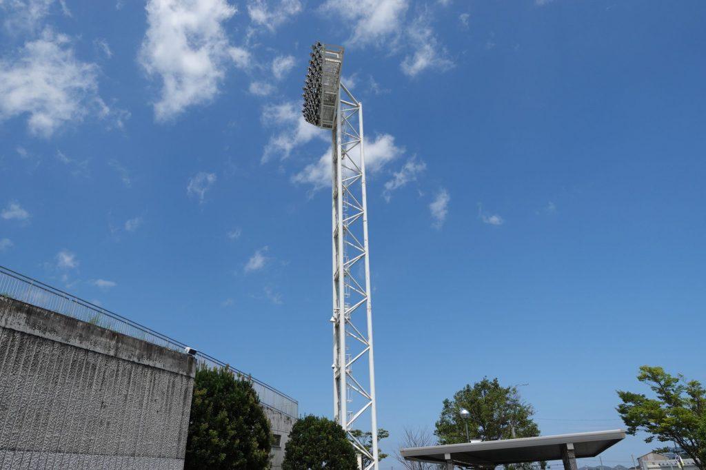 Axisバードスタジアムの照明塔