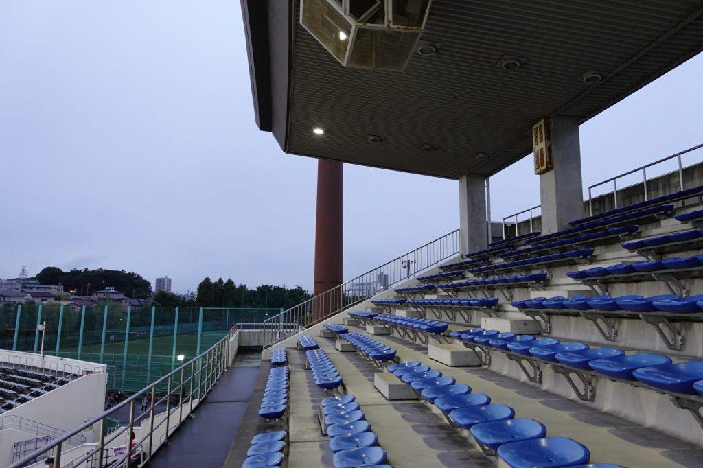 浦和駒場スタジアムのメインスタンド