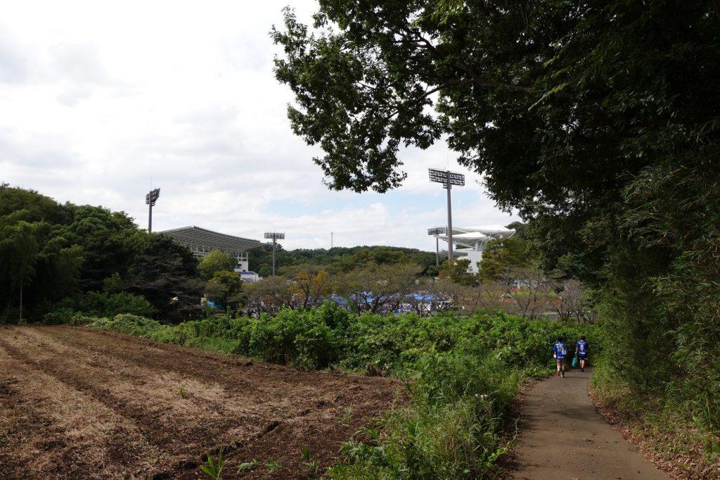 野津田車庫から町田GIONスタジアムへ